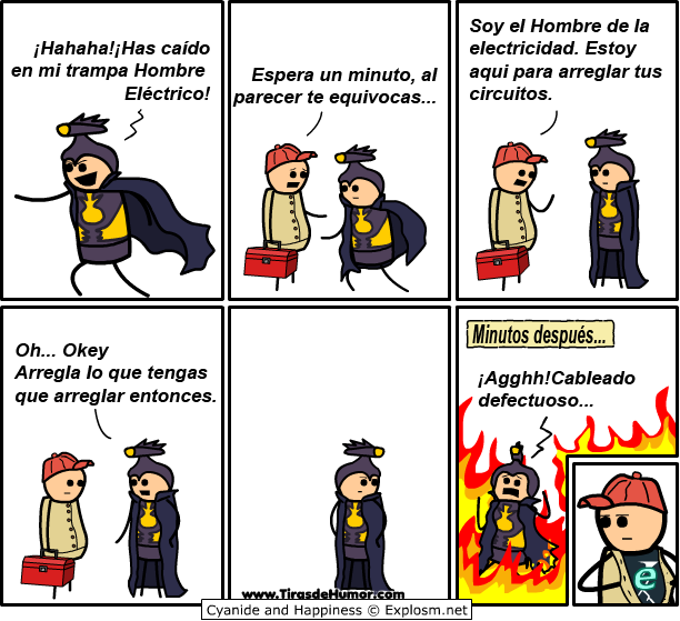 Cyanide-and-Happiness-Hombre eléctrico
