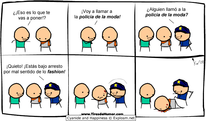 Cyanide-and-Happiness-Policía de la moda