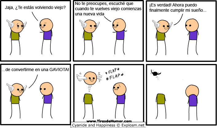 Cyanide-and-Happiness-convertirse en una Gaviota