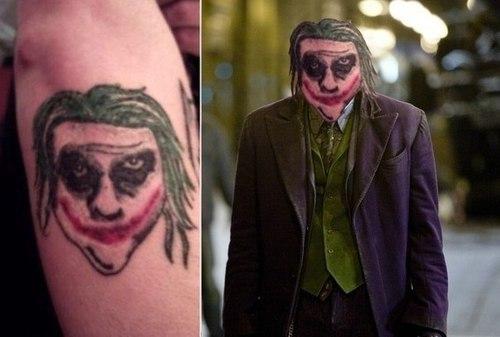 El tatuaje más realista del Guasón que jamás hayas visto
