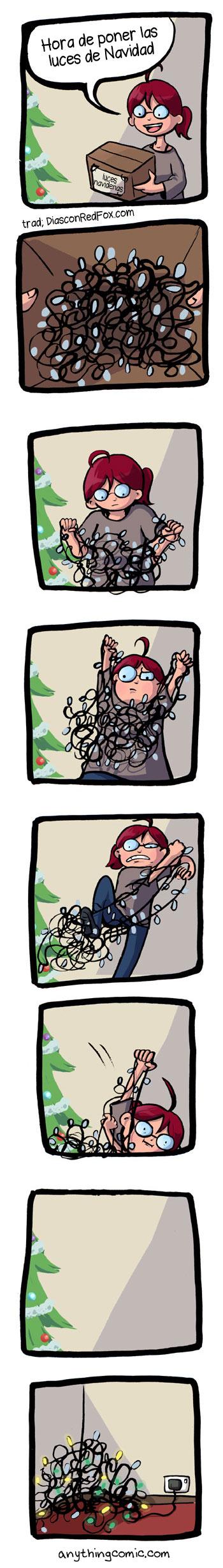 luces de navidad humor