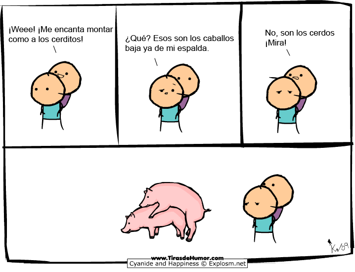 Cyanide-and-Happiness-Montar como los cerditos
