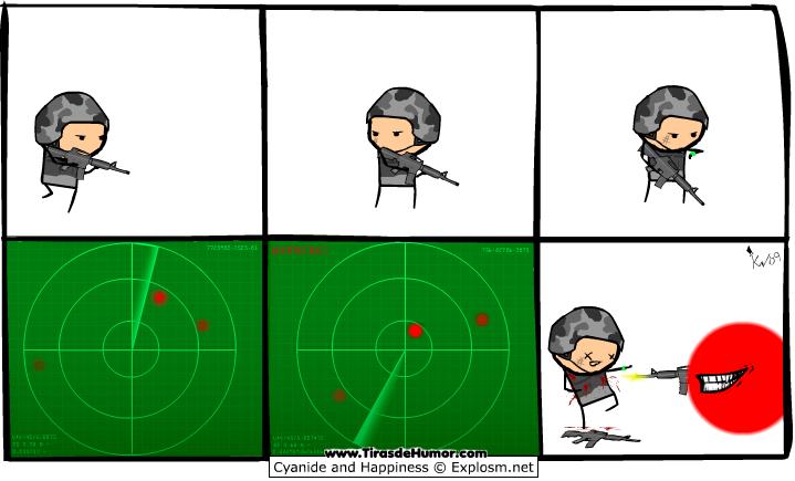 Radar, el punto rojo