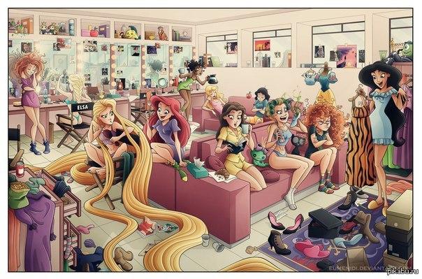 Las princesas de Disney detrás de cámaras