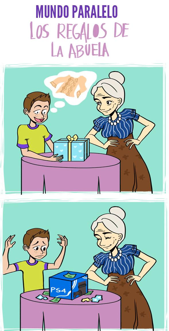 Los egalos de la abuela en un mundo paralelo