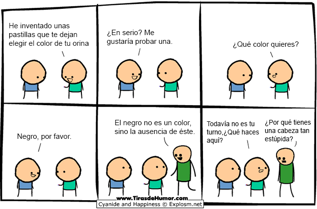 Cyanide-and-Happiness-elegir-el-color-de-tu-orina