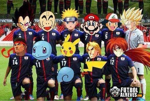 El equipo de Japón para el Mundial 2014