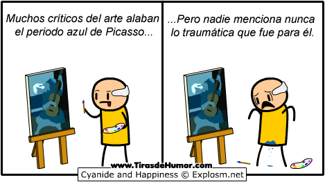 Cyanide-and-Happiness-Periodo-Azul-de-Picasso